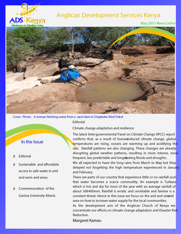 Sustainable and Affordable Access to Safe water in ASAL